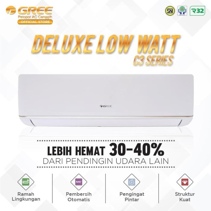 harga Ac gree c3 -deluxe low watt 2.5 pk - putih Tokopedia.com