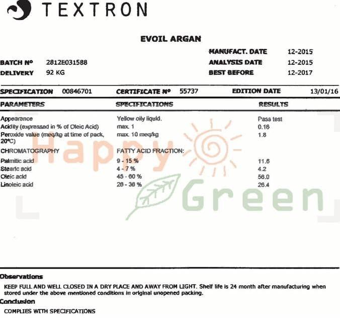 HAPPY GREEN Argan Oil 10 ml - Minyak Argan Cosmetic Grade Carrier Oil