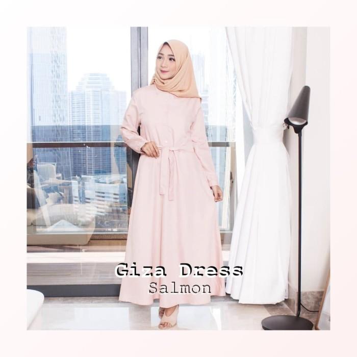 Jual Baju Gamis Wanita Muslim Polos Murah Terbaru 2018 Giza Dress
