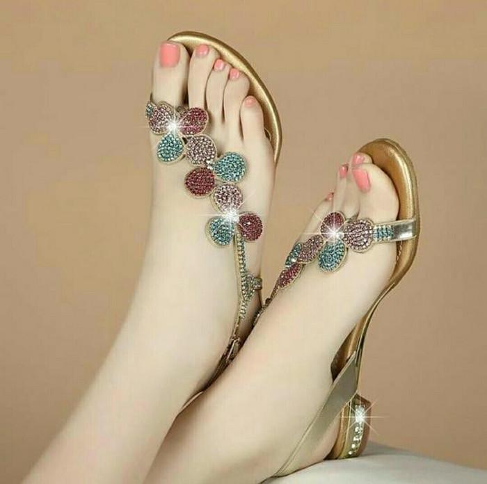 harga Grosir sepatu sendal wanita cantik wedges bling blink heels boot murah Tokopedia.com
