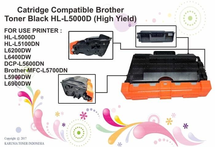 harga Toner cartridge compatible brother tn3448 hl l5000d / l5100dn black Tokopedia.com
