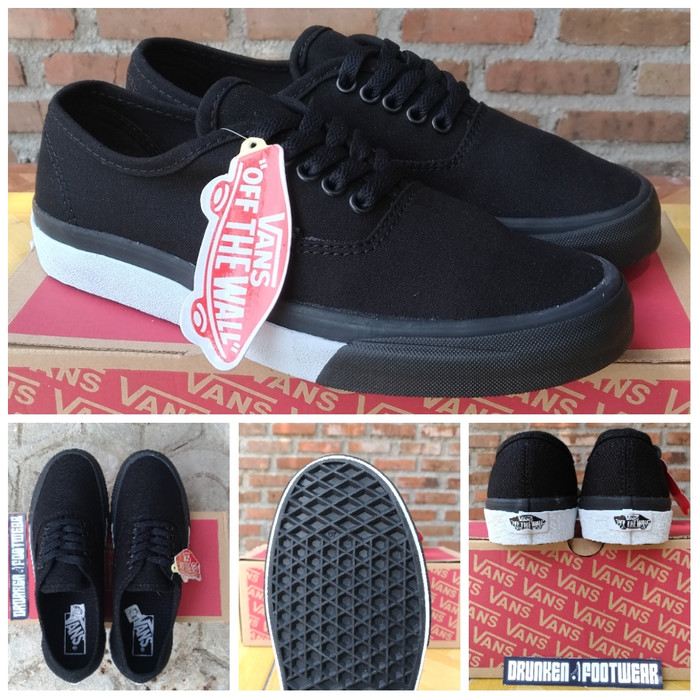 f464f453a6 SEPATU VANS AUTHENTIC BUMPER BLACK WHITE - ORIGINAL IMPORT - PREMIUM