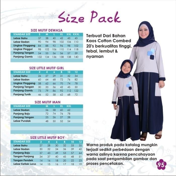 Sarimbit - Mutif - Abu tua - Couple Baju Muslim Keluarga - Seragam