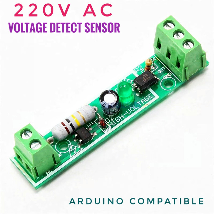 Jual Sensor Detektor Tegangan 220V AC PLN Out 5V 3 3V untuk Arduino PLC -  Kota Bekasi - RAJACELL BEKASI | Tokopedia