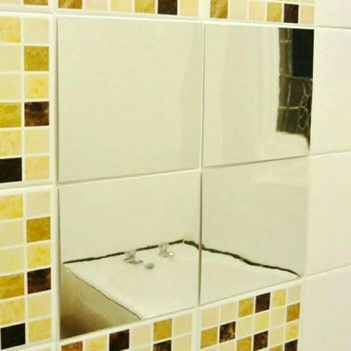 jual wall sticker cermin mirror kaca wallpaper dinding - kota