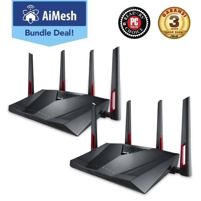 Jual ASUS Wireless RT-AC88U Dual-Band AC3100 WiFi Gaming Router Aimesh -  Kota Bandung - Expo Computer | Tokopedia