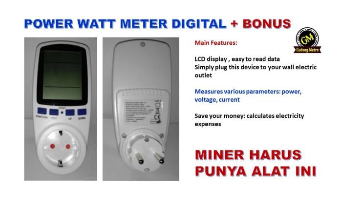 Foto Produk Power Watt Meter AC Digital - Promo dari Gudang Metro JKT