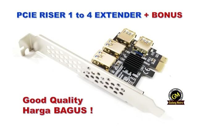 Foto Produk PCIE RISER 1 to 4 EXTENDER BERGARANSI dari Gudang Metro JKT