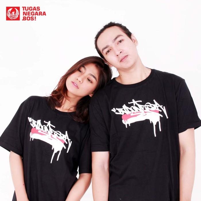 harga T-shirt kolaborasi nevertoolavish x tugas negara bos : indonesia - hitam xl Tokopedia.com