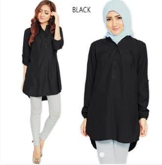 Jual Kemeja Tunik Wanita Lengan Panjang Size M L Xl Baju Muslim Wanita Jakarta Pusat Pakaian Onlaine Tokopedia