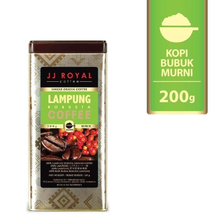 Coffee/kopi jj royal lampung robusta ground tin 200g