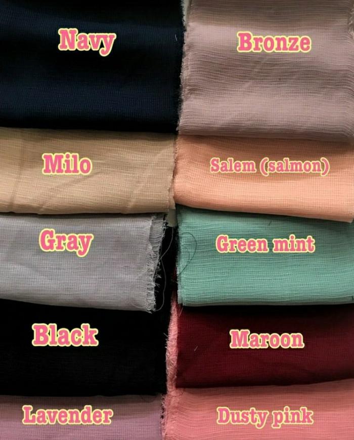 Jual Jilbab Hijab Segiempat Polos Corn Skin Viscose Premium Dijahit
