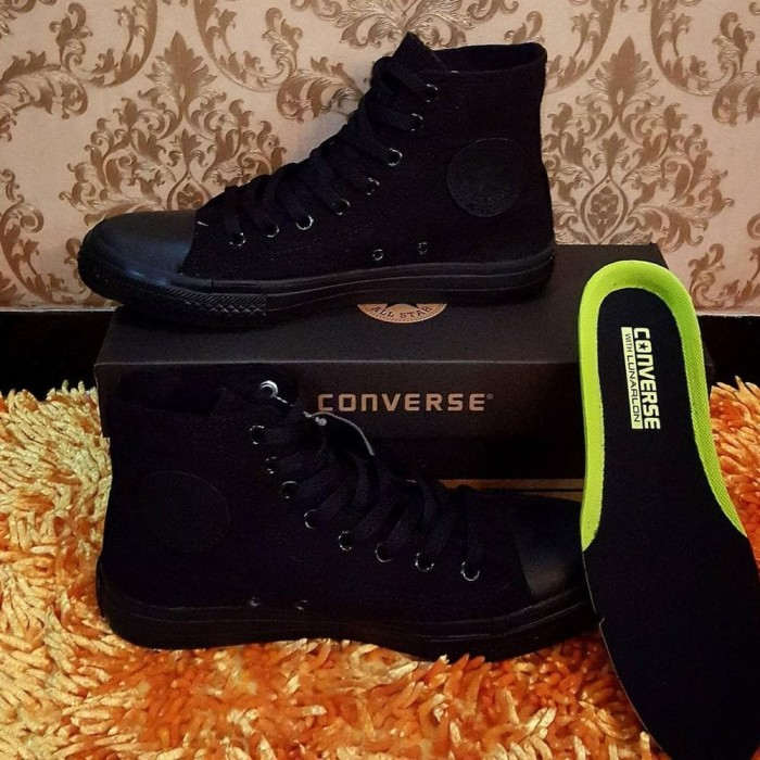 Jual SEPATU CONVERSE ALL STAR CT2 HIGH FULL BLACK - Islamic toys ... 8e2d89f93