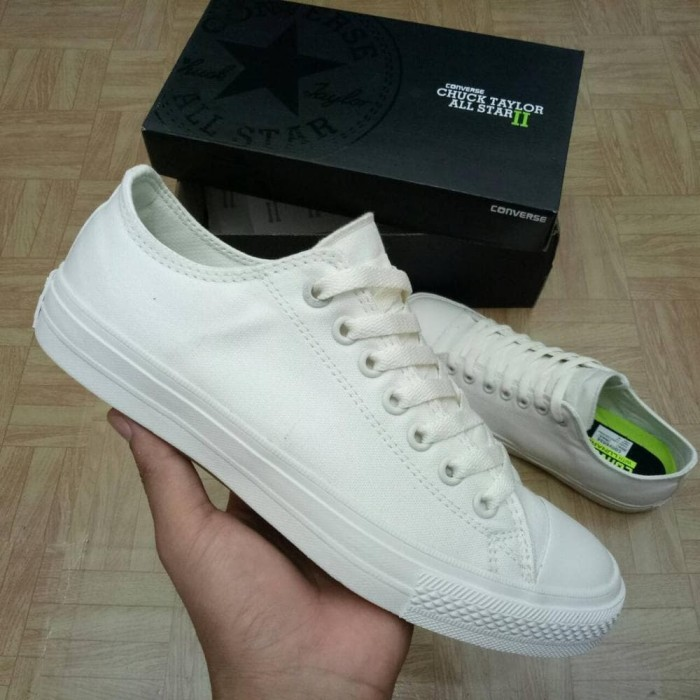 Jual Sepatu Converse All Star CT2 LunarLon Low Full White - Grade ... c9327757e4