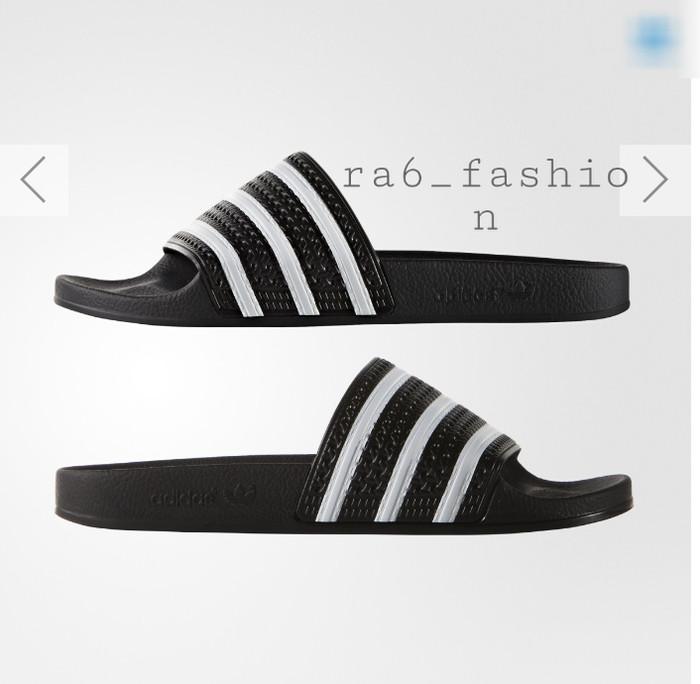 8607a445c Jual Sandal Adidas Adilette Black Original - Hitam