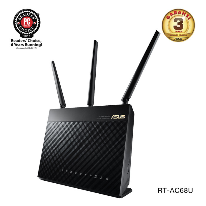 harga Asus wireless rt-ac68u dual-band ac1900 gigabit wifi router aimesh Tokopedia.com