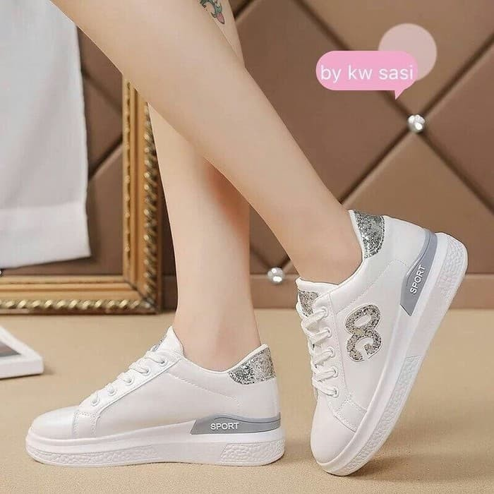 Promo Murah Z61u9 Sepatu Sport Wanita Sneaker Wedges Oc Gl Laris B21i9 91e42a06d1