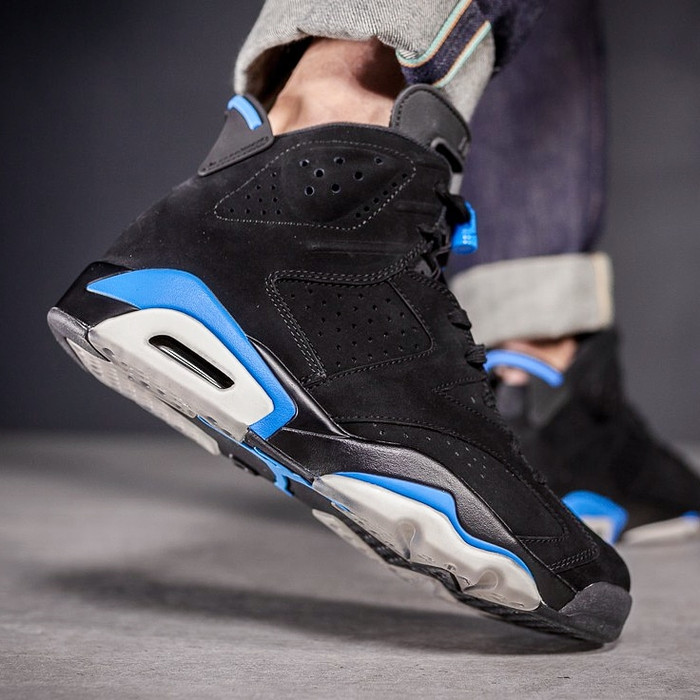 8cce6711f1f Jual Nike Air Jordan 6 Retro Hi UNC Black University Blue - Kota ...