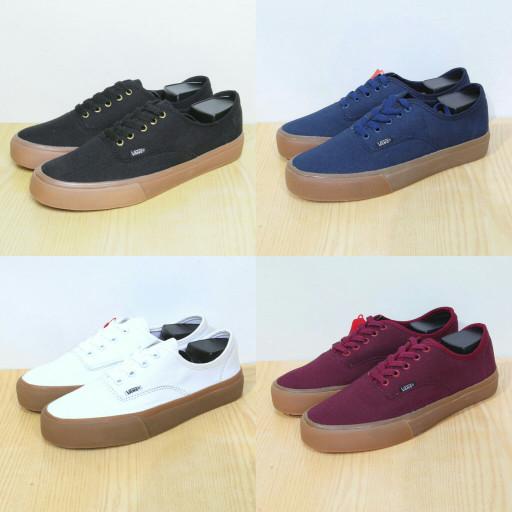 Sepatu Vans Authentic Gum - Hitam, Navy, Putih, Maroon