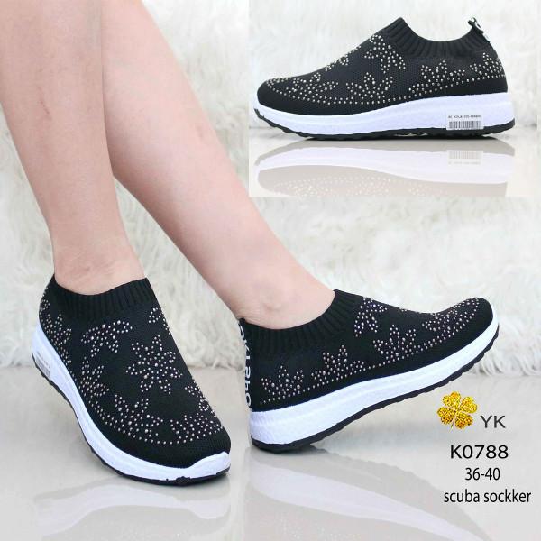 Jual K0788 scuba sockker shoes black import sepatu wanita online ... 2a4d05a10a