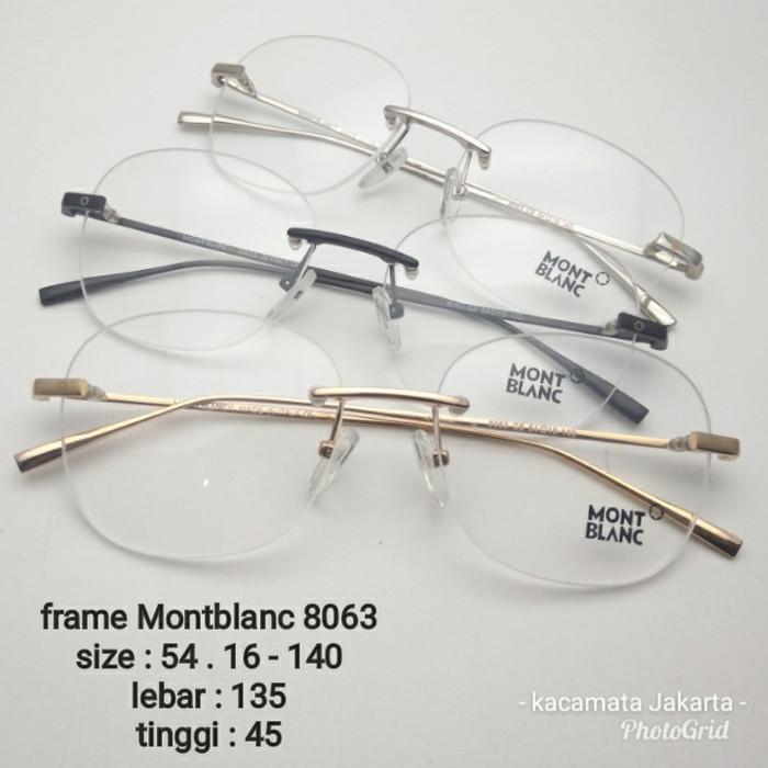 Kacamata bor frameless frame pria wanita montblanc bulat kacamata 5c5d90f0ad