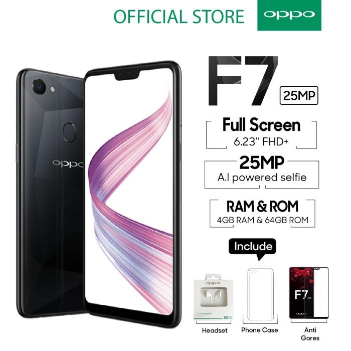 harga Oppo f7 smartphone 4gb/64gb black (garansi resmi oppo indonesia) Tokopedia.com