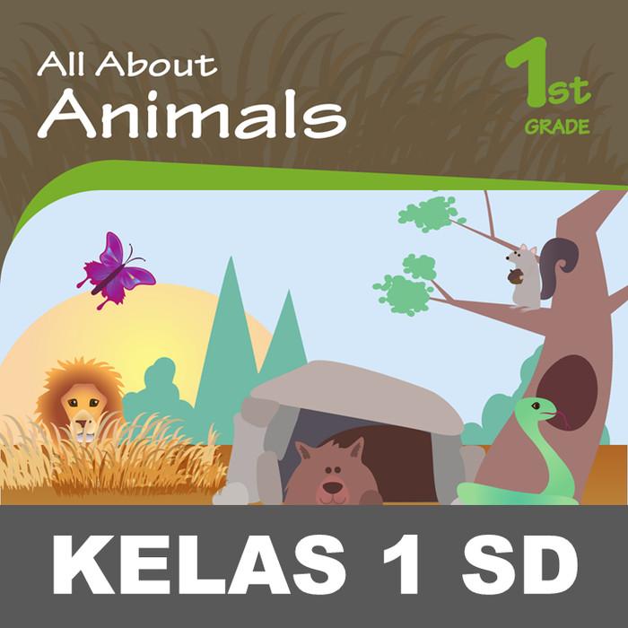 Jual All About Animals Buku Aktivitas Gambar Menulis Mewarnai Anak