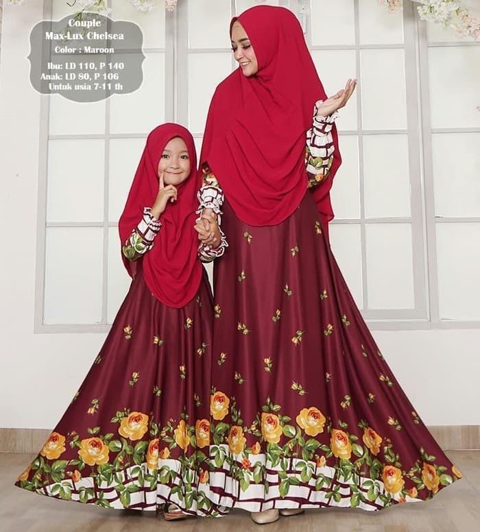 Jual Baju Gamis Couple Ibu Dan Anak Long Dress Maxmara Termurah