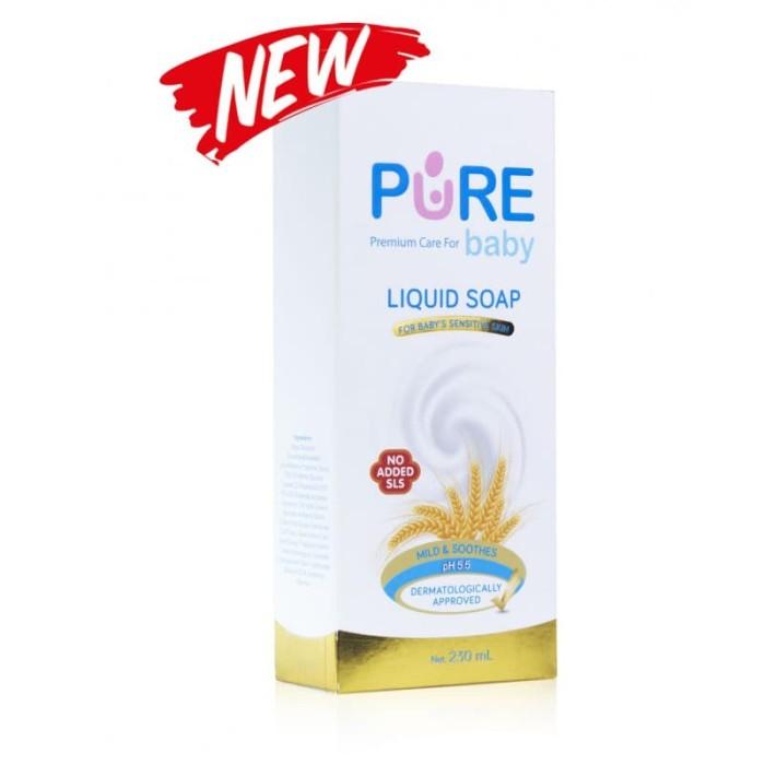 Pure baby liquid soap 230ml new - sabun bayi