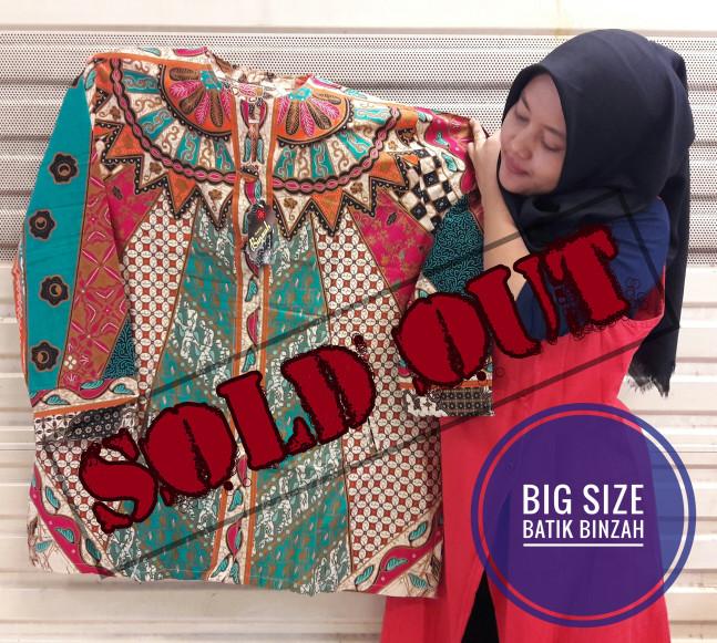 harga Blus jumbo batik binzah kode 0360 (big size) Tokopedia.com