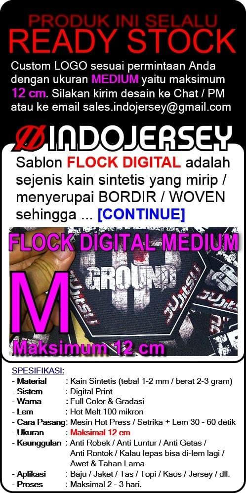 Foto Produk Stiker Baju CUSTOM LOGO FLOCK MEDIUM dari Indojersey
