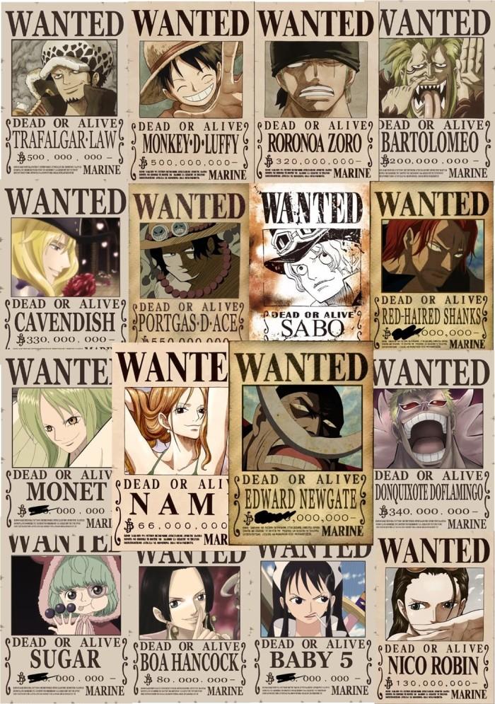 Jual Poster One Piece Bounty Design Sendiri Satuan Ukuran A4 Kota Cimahi Kaizoku Poster Tokopedia