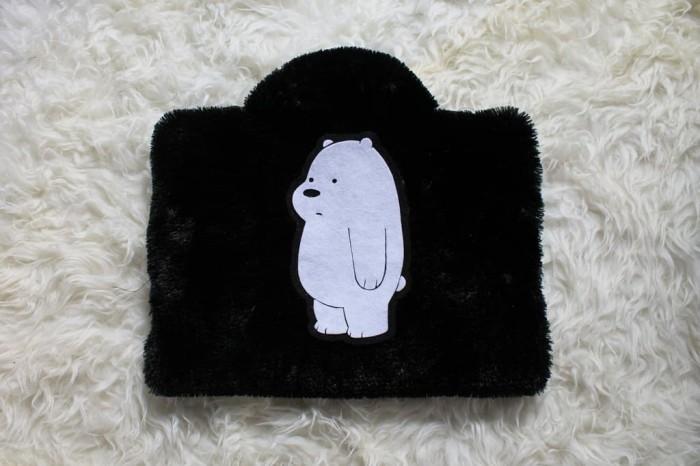 Foto Produk Ice Bear Hitam 13-14 Inch Rasfur Bulu Softcase Tas Laptop Notebook dari FaryuzFamouz-Softcase