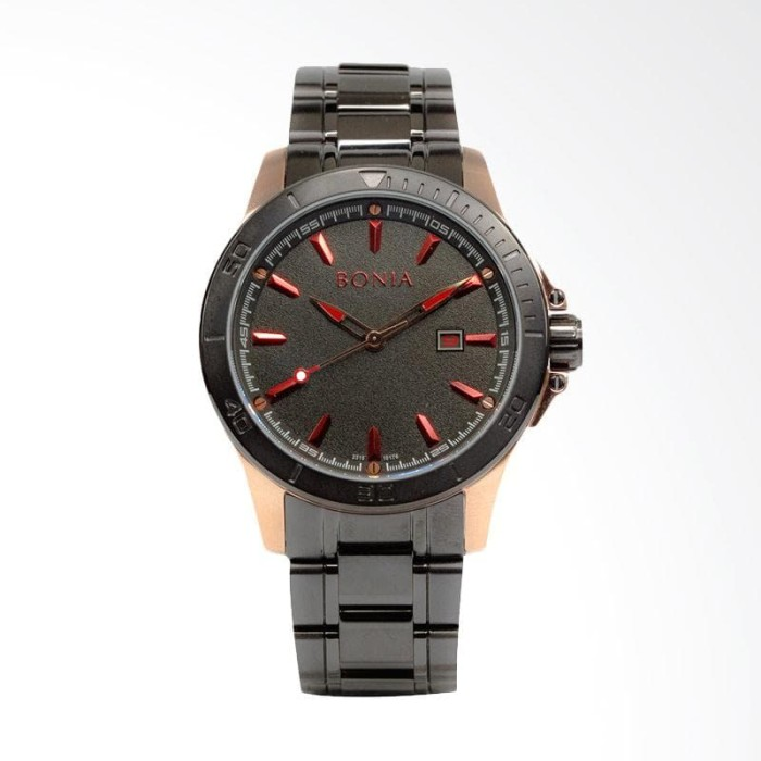[ori] bonia b10176-1532 jam tangan pria stainless steel|link bracelet