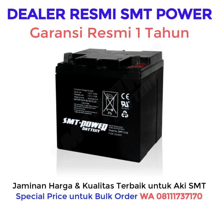 harga Aki ups smt 12v 26ah baterai ups / batere ups / accu ups / battery ups Tokopedia.com