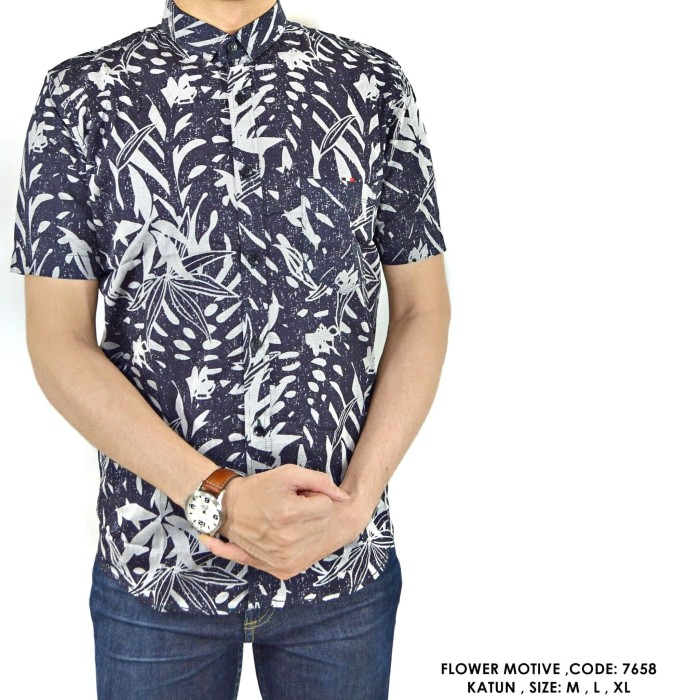 harga Baju kemeja fashion motif hawai pantai cowok pria Tokopedia.com