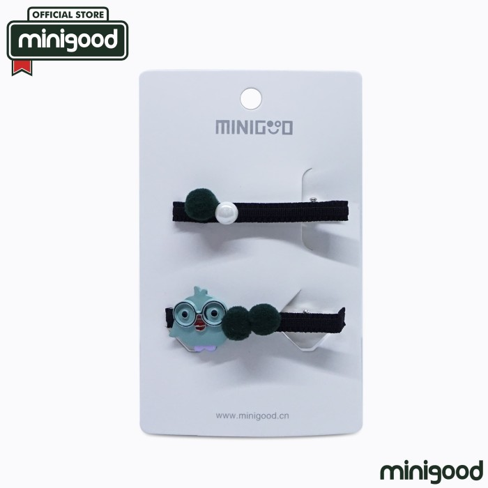 minigood ornamen burung mutiara bola bludru hijau jepit rambut 84177