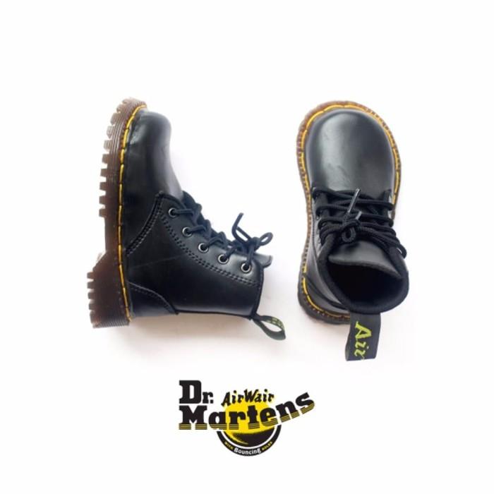 murah Sepatu Boots Dr Martens Anak Warna Hitam