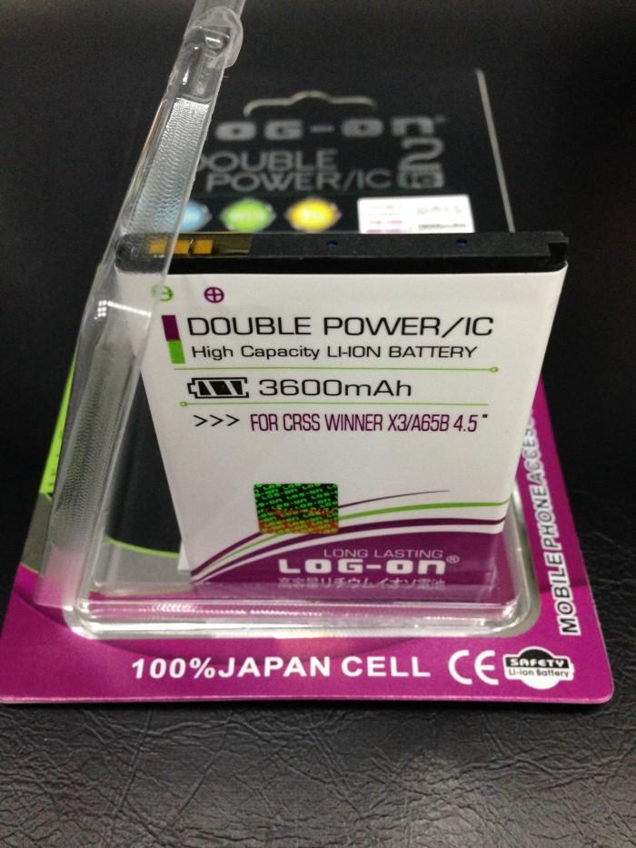 harga Baterai evercoss winner x3 a65b 4.5inch 3600mah double power log on Tokopedia.com