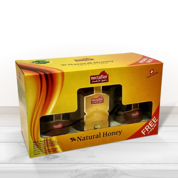 nectaflor promo pack 7 (acacia honey 250 g + 2 blossom honey 60 g)