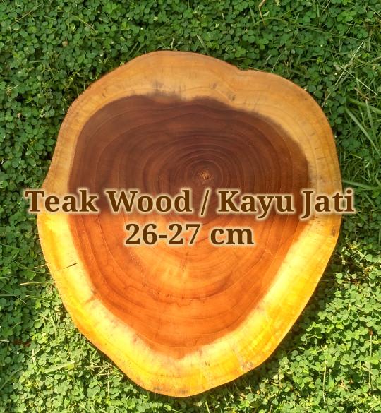 Jual Teak wood slice 26-27 cm dekorasi rustic vintage hiasan talenan ... d9fb25bd3c