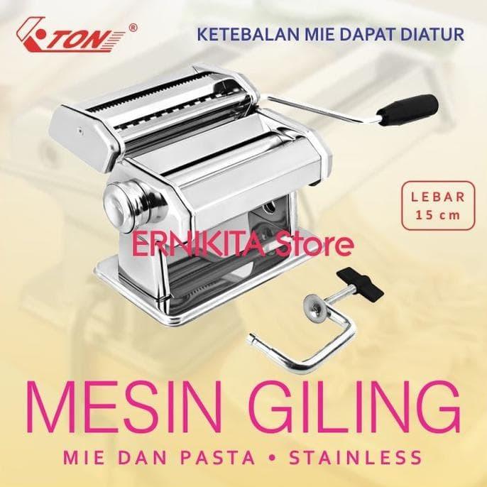 Gilingan Mie, Pasta,Molen - Stainless  Free Bubble+Dus   Noodle Maker