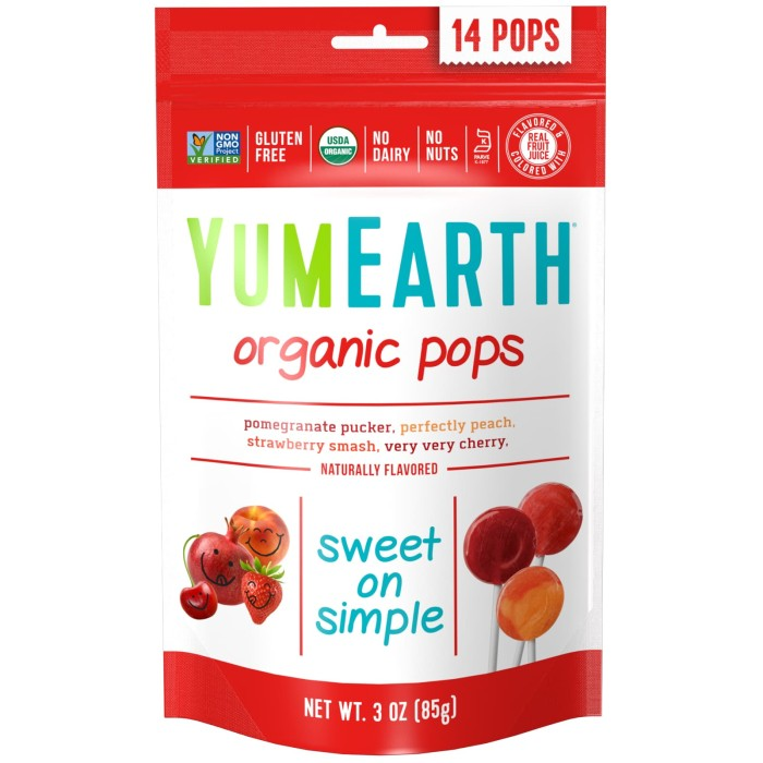 harga Yummy earth organic lollipop 14pc (85 g) Tokopedia.com