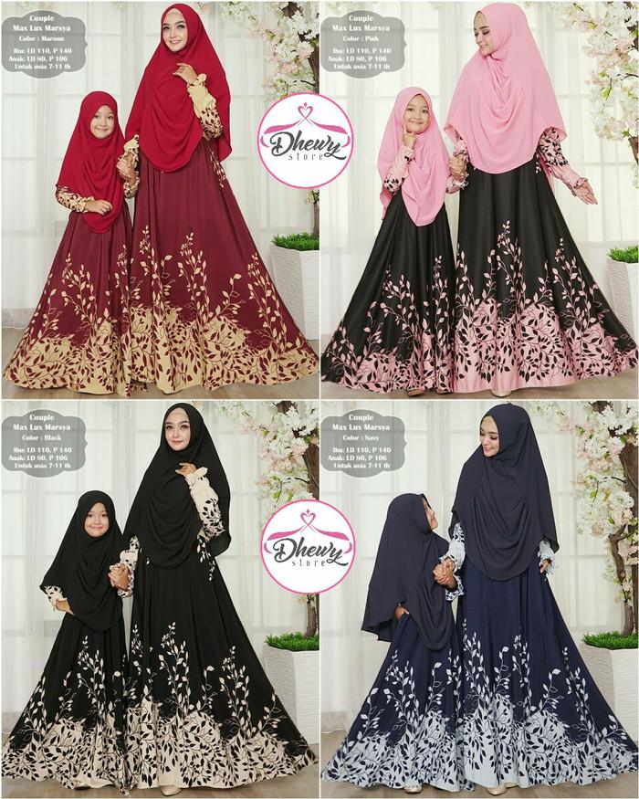 harga Couple gamis dan jilbab mom and kids best seller.baju muslim pasangan Tokopedia.com
