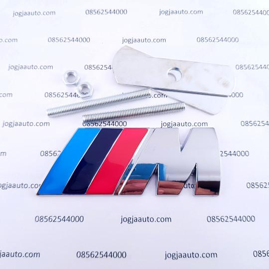 Foto Produk BMW ///M power M3 logo emblem grill universal metal chrome dari jogjaauto