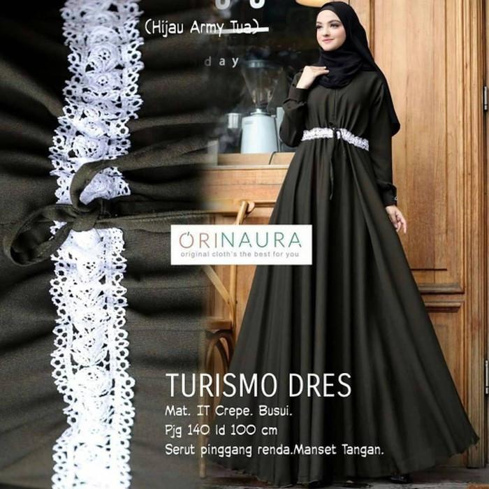 Gamis maxi dress busana baju muslimah muslim maxy panjang elegan baru