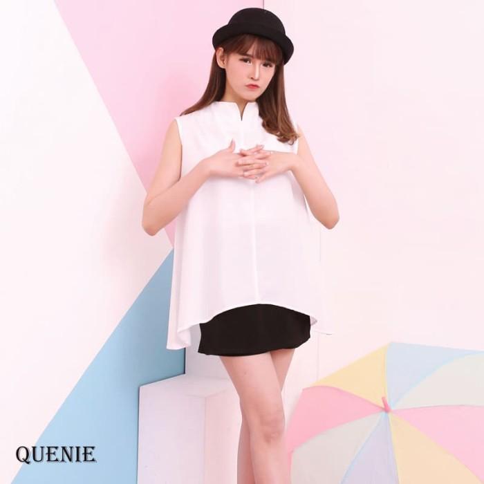 Quenie top  - atasan blouse modern wanita premium hq