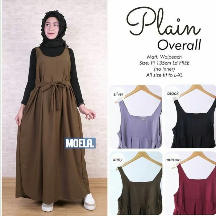 Maxi dress murah   Overall hitam   Jual pakaian wanita   Plain overall -  army 756d2347e8