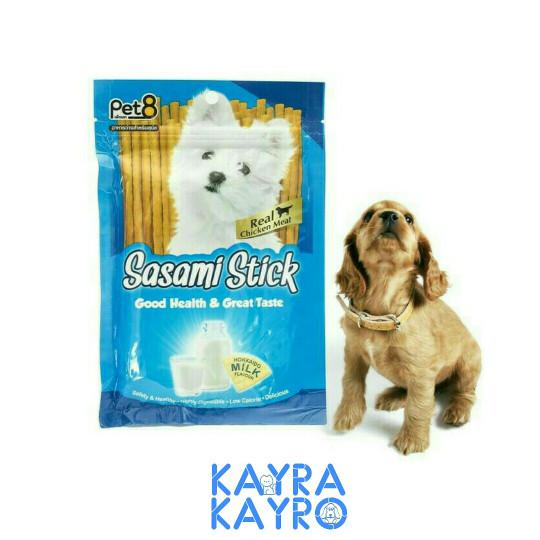 harga Pet8 sasami stick hokkaido milk 75gr - snack camilan anjing Tokopedia.com