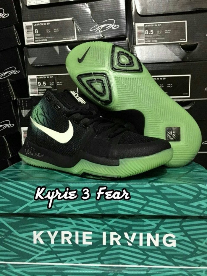 fdf604d51990 Jual Sepatu Basket Kyrie 3 Fear Black Green Hitam Hijau - Elite ...